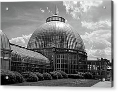 Belle Isle Conservatory 3 Bw Acrylic Print by Mary Bedy