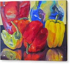 Belle Peppers Acrylic Print by Lisa Boyd