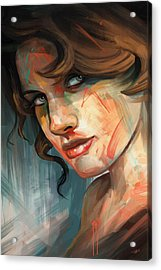 Acrylic Print featuring the digital art Belle by Steve Goad