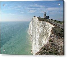 Belle Tout Lighthouse, East Sussex. Acrylic Print