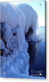 Belled Ice Acrylic Print by Sandra Updyke