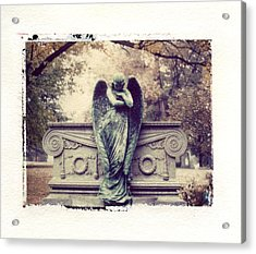 Bellefontaine Angel Polaroid Transfer Acrylic Print by Jane Linders