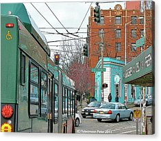 Bellevue And Olive  Acrylic Print by Tobeimean Peter