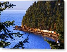 Bellingham Bay And Train Acrylic Print