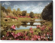 Acrylic Print featuring the digital art Bellingrath Gardens by Lianne Schneider