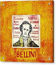 Bellini Portrait Acrylic Print by Paul Helm