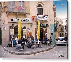 Bellusa Cafe No. 1 Acrylic Print by Sascha Meyer