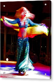 Belly Dance Acrylic Print by Andy Za
