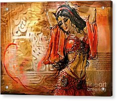 Belly Dancer Collage 01 Acrylic Print