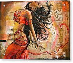 Belly Dancer Collage 02 Acrylic Print