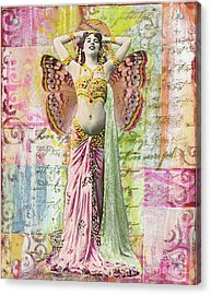 Belly Dancer Acrylic Print by Desiree Paquette