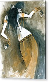 Acrylic Print featuring the painting Inspired By Zoe Jakes by Maya Manolova