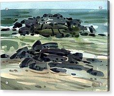 Belmar Jetty Three Acrylic Print by Donald Maier