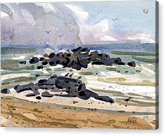 Belmar Jetty Two Acrylic Print by Donald Maier