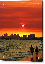 Belmont Shore Sunset Acrylic Print