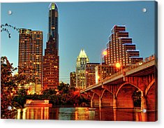 Below Congress Avenue Bridge Acrylic Print by David Hensley