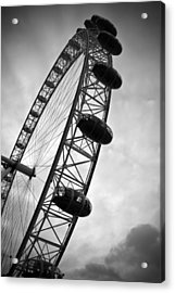 Below London's Eye Bw Acrylic Print