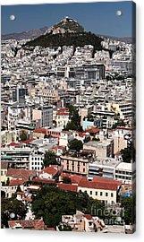 Below Mount Lykavittos Acrylic Print by John Rizzuto
