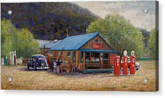 Acrylic Print featuring the painting Below Taos 2 by Donelli  DiMaria