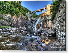 Below The Dam Acrylic Print