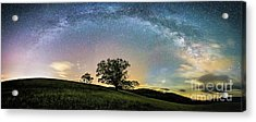 Below The Milky Way At The Blue Ridge Mountains Acrylic Print