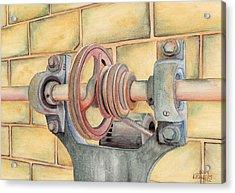 Belt Driven Acrylic Print by Ken Powers