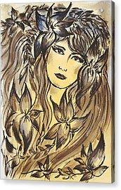 Beltane Goddess Acrylic Print by Pia Tohveri