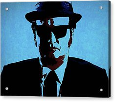 Belushi Blues Brothers Acrylic Print by Dan Sproul