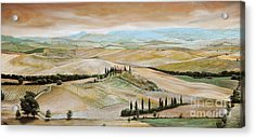 Belvedere - Tuscany Acrylic Print by Trevor Neal