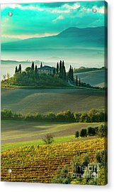 Acrylic Print featuring the photograph Belvedere - Tuscany II by Brian Jannsen