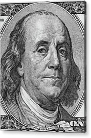 Acrylic Print featuring the photograph Ben Franklin by Les Cunliffe