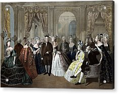 Ben Franklin's Reception At The Court Of France  Acrylic Print by War Is Hell Store
