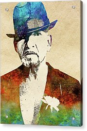 Ben Kingsley Acrylic Print by Mihaela Pater