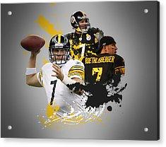Ben Roethisberger Steelers Acrylic Print by Joe Hamilton