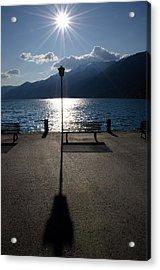 Bench And Street Lamp Acrylic Print