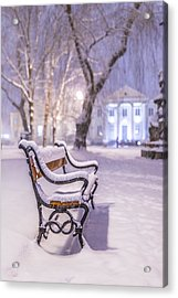 Acrylic Print featuring the photograph Bench by Jaroslaw Grudzinski