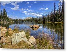 Bench Lake Acrylic Print