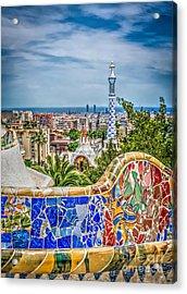 Bench Of Barcelona Acrylic Print