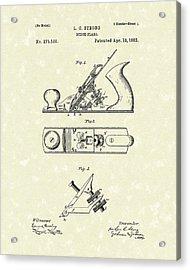 Bench Plane 1883 Patent Art Acrylic Print