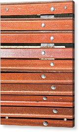 Bench Planks Acrylic Print by Tom Gowanlock