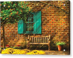 Bench - Please Have A Seat Acrylic Print by Mike Savad
