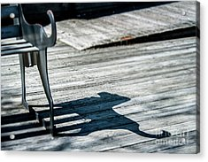 Bench Shadow Acrylic Print