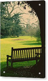 Bench Under A Tree Acrylic Print