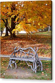 Bench Under The Tree 2 Acrylic Print by Lanjee Chee
