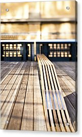 Benches At The High Line Park Acrylic Print by Eddy Joaquim