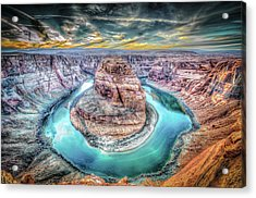 Bend In The River Acrylic Print by Mark Dunton