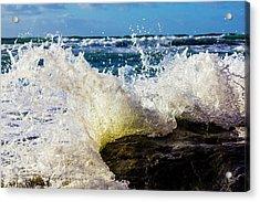 Wave Bending Backwards Acrylic Print