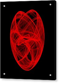 Acrylic Print featuring the digital art Bends Unraveling II by Robert Krawczyk