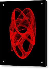 Acrylic Print featuring the digital art Bends Unraveling Iv by Robert Krawczyk