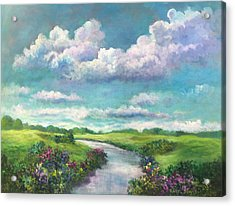 Beneath The Clouds Of Paradise Acrylic Print
